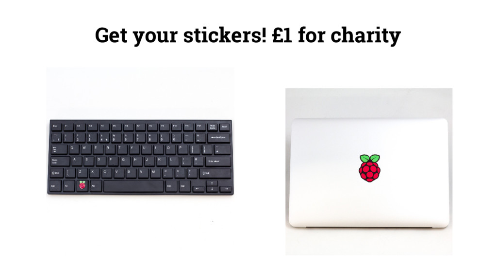 Get your stickers! £1 for charity
