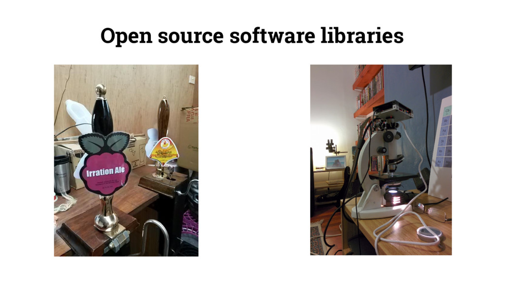 Open source software libraries