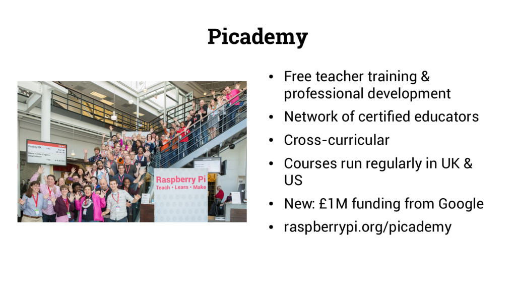 Picademy ● Free teacher training & professional...