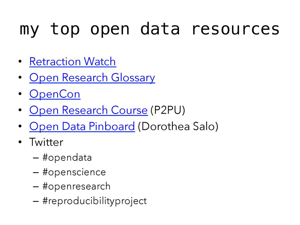 my top open data resources! • Retraction Watch...