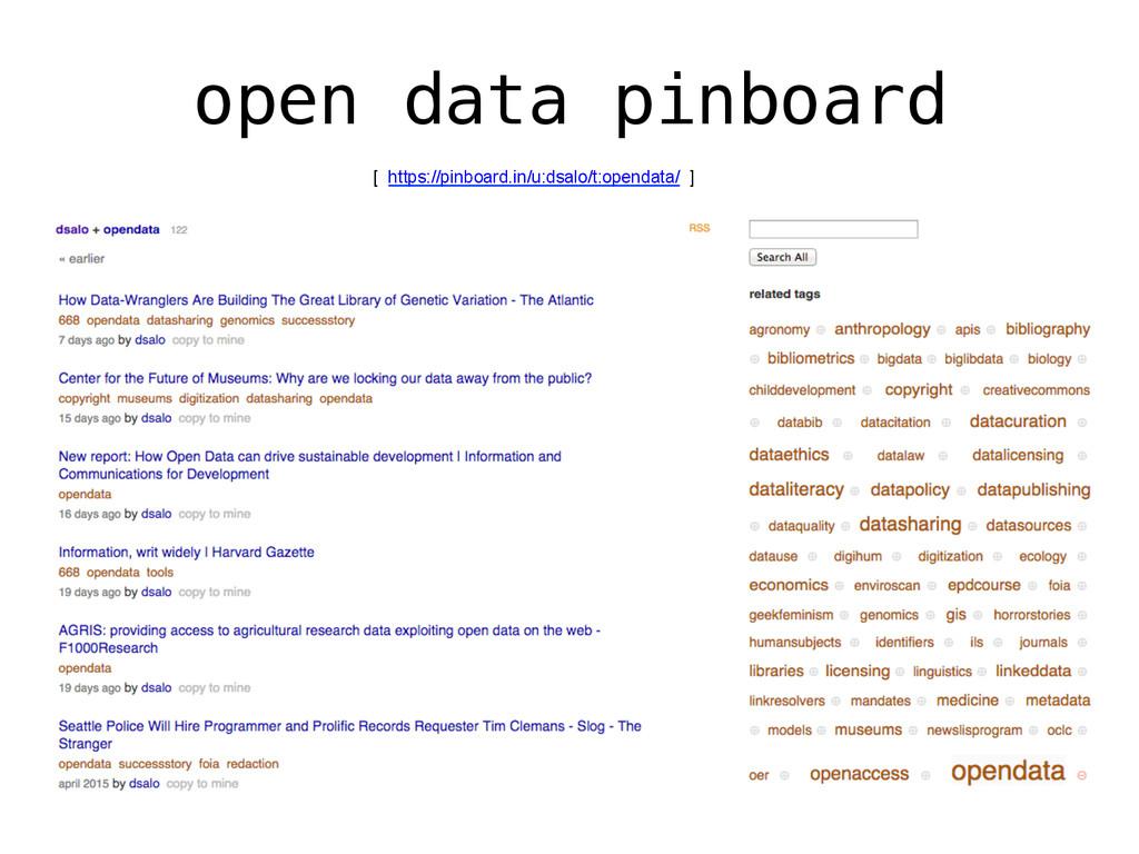 open data pinboard! [ https://pinboard.in/u:dsa...