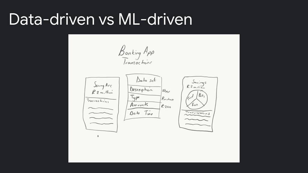 Data-driven vs ML-driven