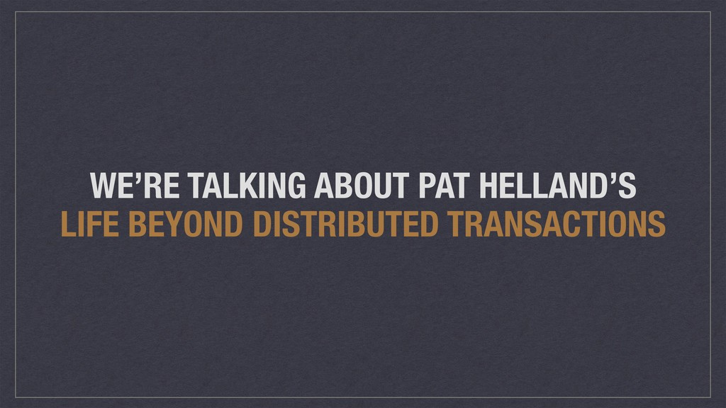 WE'RE TALKING ABOUT PAT HELLAND'S LIFE BEYOND D...