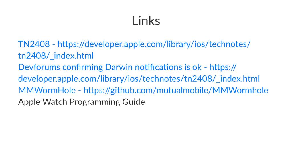 Links TN2408'('h*ps:/ /developer.apple.com/libr...