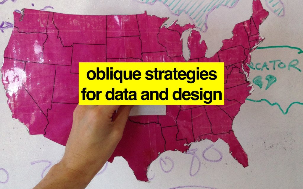 oblique strategies for data and design