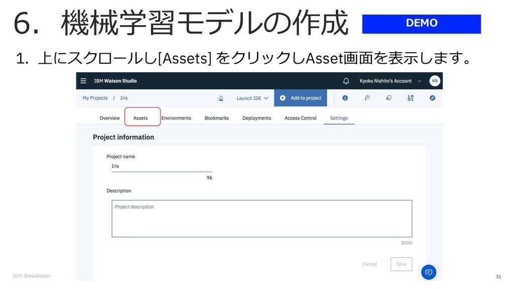6 31 1. [Assets] . Asset