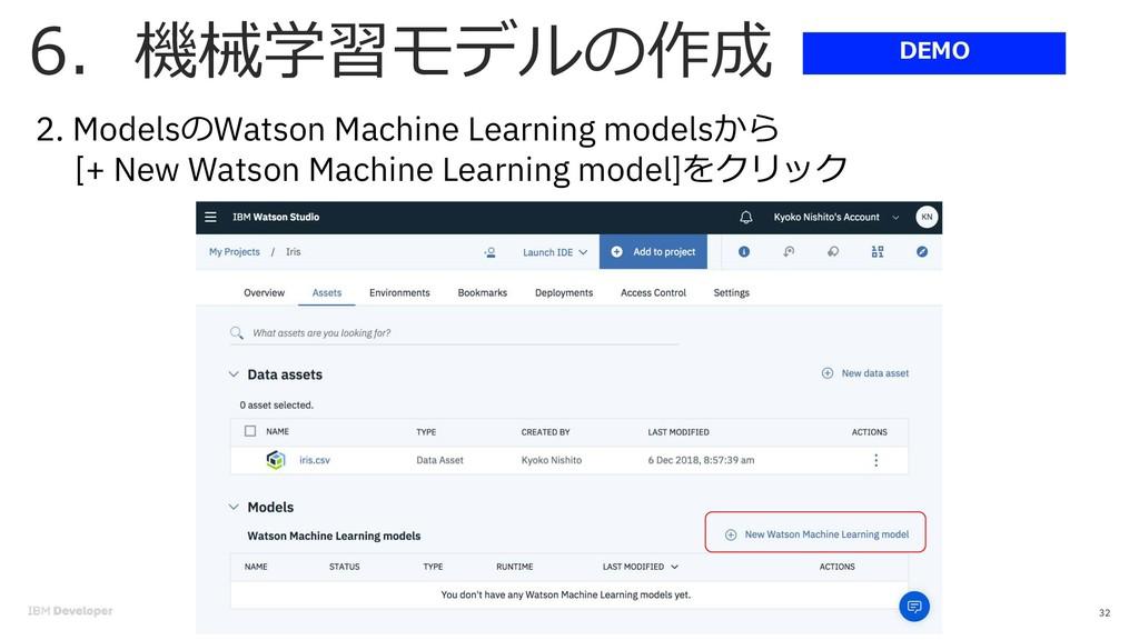 . 32 2. Models Watson Machine Learning models [...
