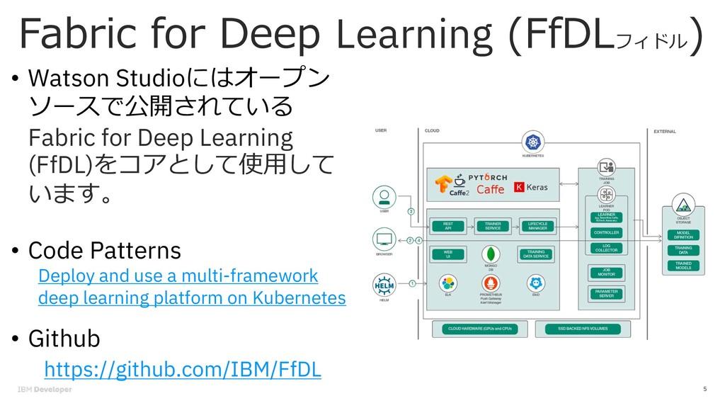 ) ( Learning ( 5 • Watson Studio DF Fabric for ...