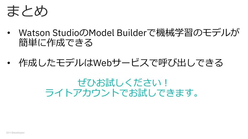 • Watson StudioModel Builder)1(/# % 0....