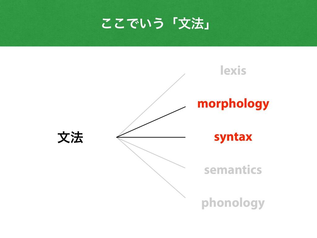 ͜͜Ͱ͍͏ʮจ๏ʯ จ๏ lexis morphology syntax semantics ...