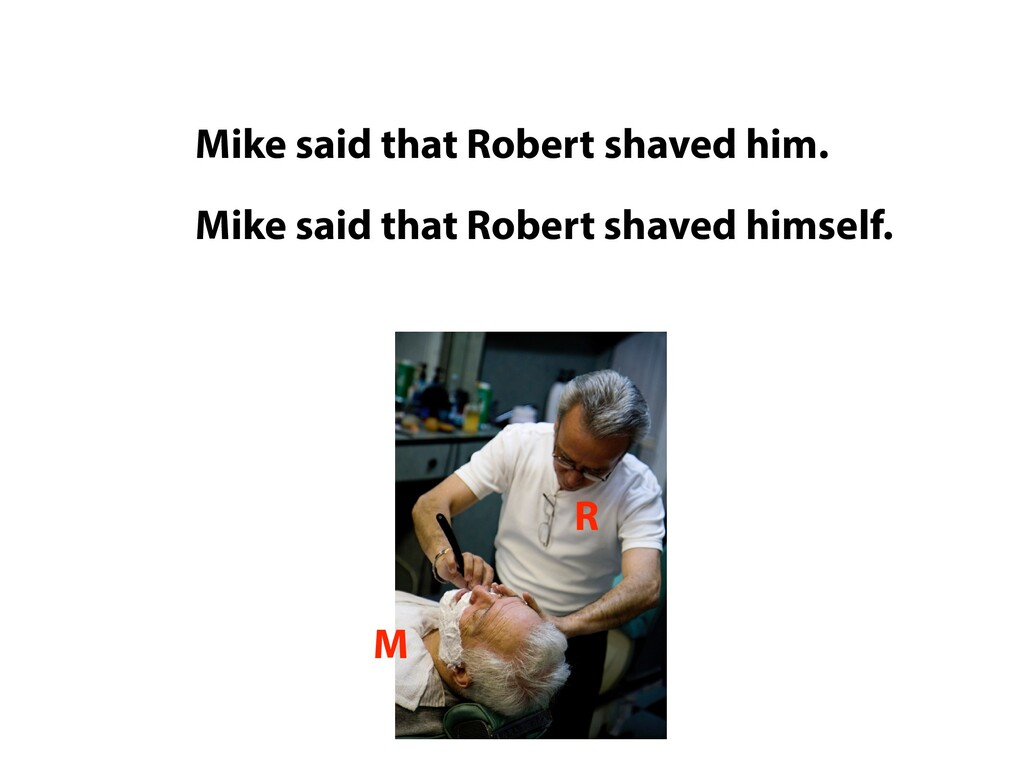 Mike said that Robert shaved him. Mike Robert R...
