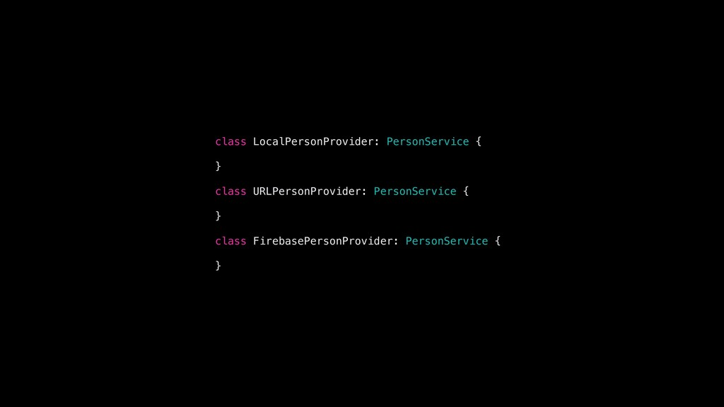 class LocalPersonProvider: PersonService { } cl...