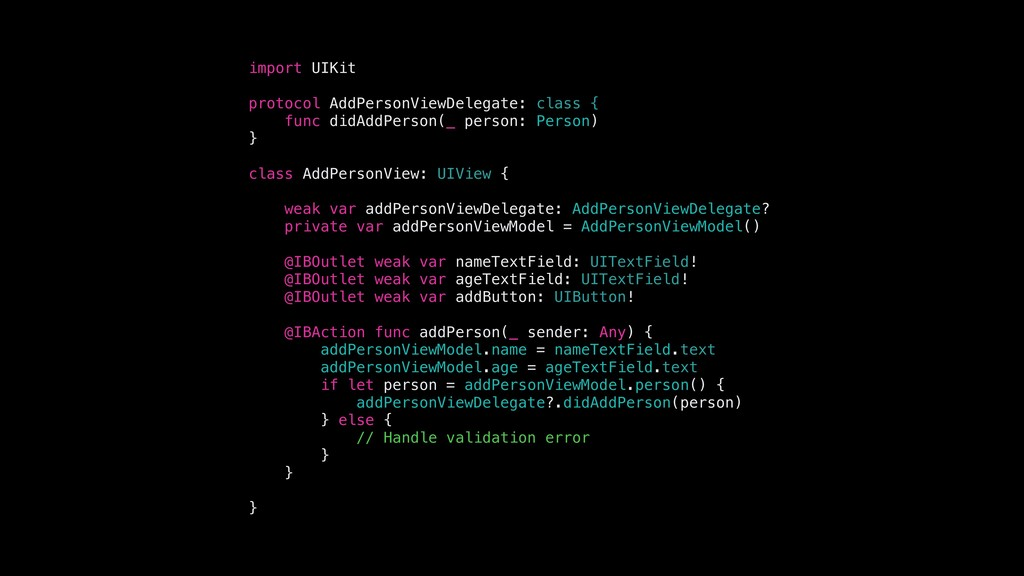 import UIKit protocol AddPersonViewDelegate: cl...