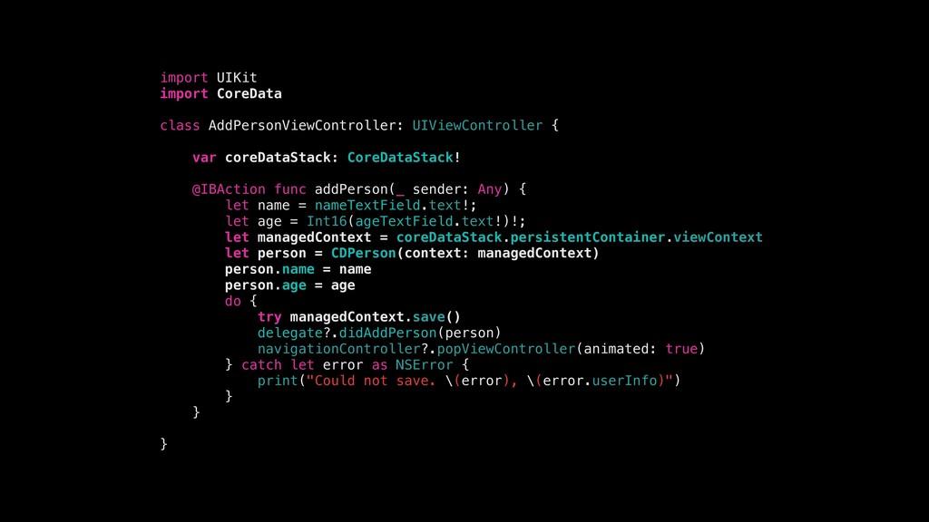 import UIKit import CoreData class AddPersonVie...