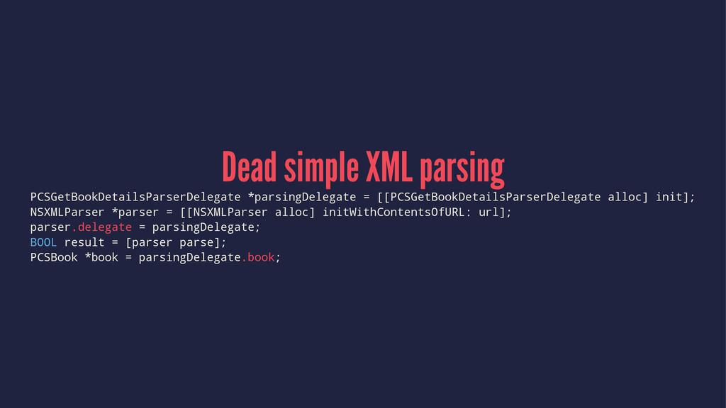 Dead simple XML parsing PCSGetBookDetailsParser...