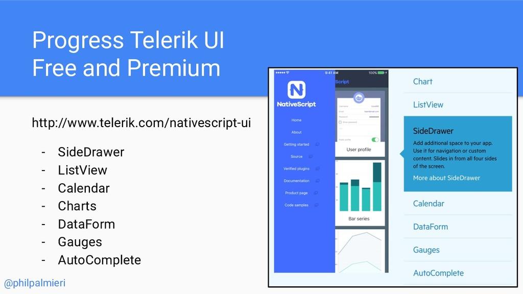 Progress Telerik UI Free and Premium http://www...