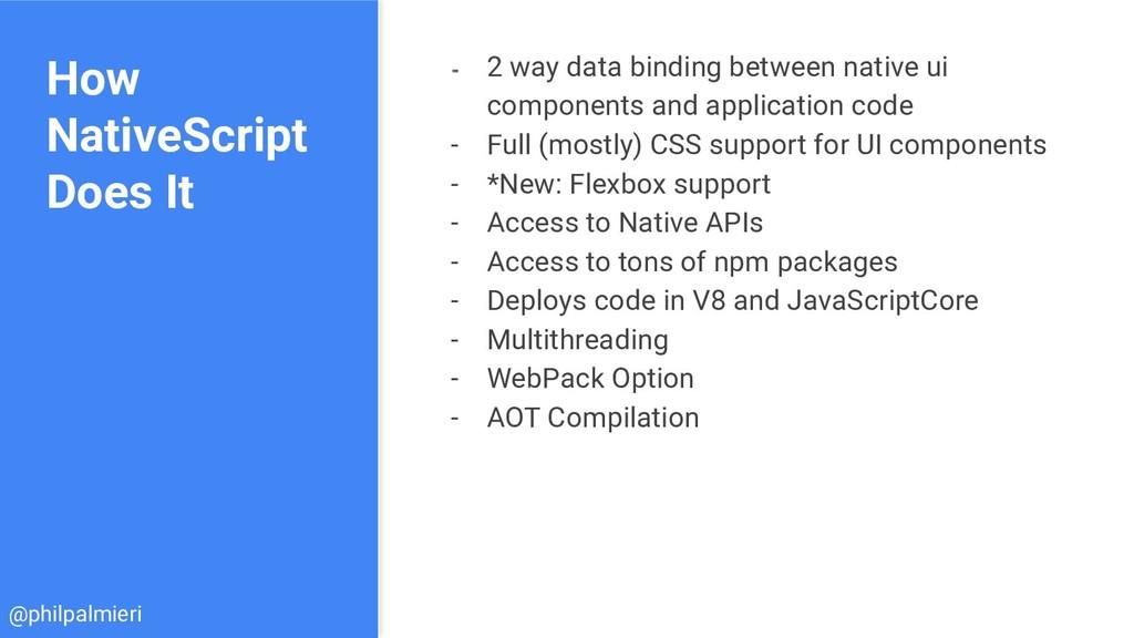 How NativeScript Does It - 2 way data binding b...