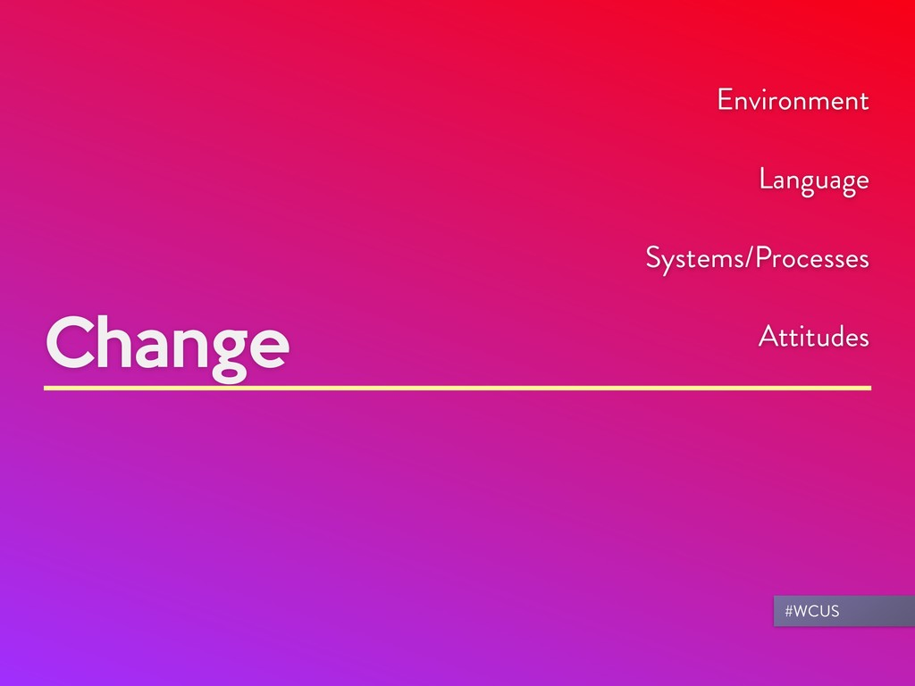 Change Environment Language Systems/Processes A...