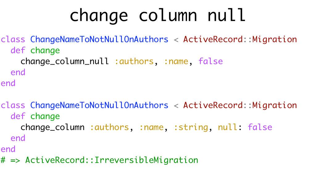 change column null class ChangeNameToNotNullOnA...
