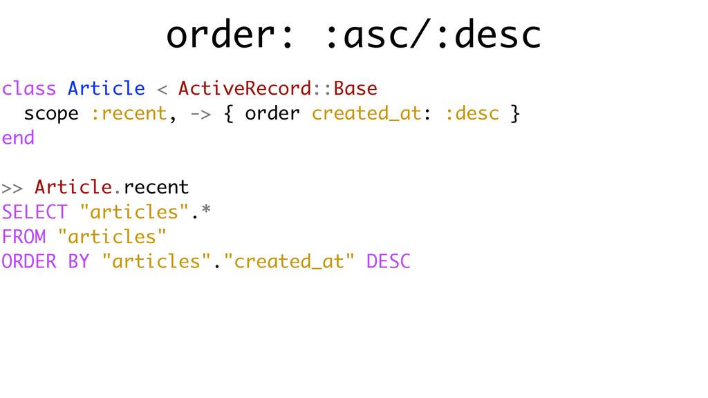 order: :asc/:desc class Article < ActiveRecord:...