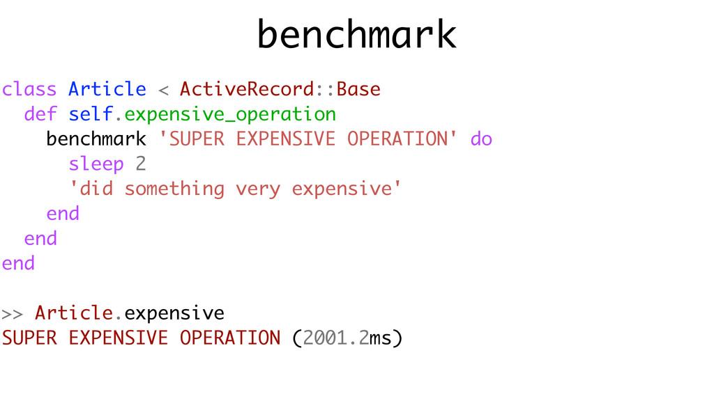 benchmark class Article < ActiveRecord::Base de...
