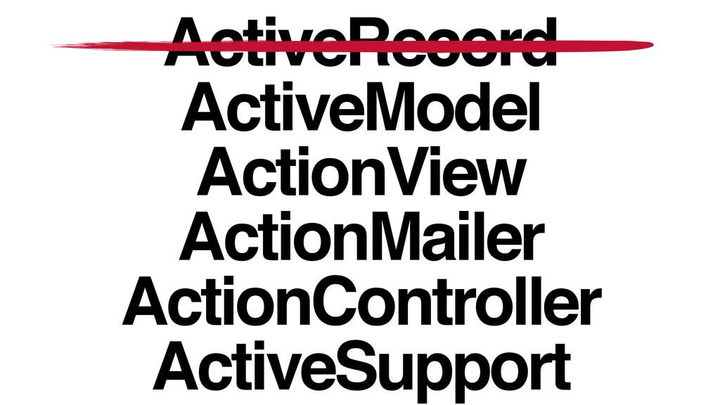 ActiveRecord! ActiveModel! ActionView! ActionMa...