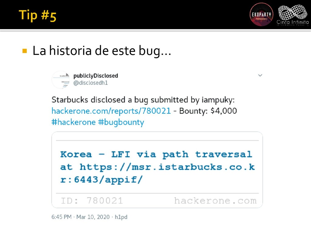  La historia de este bug…