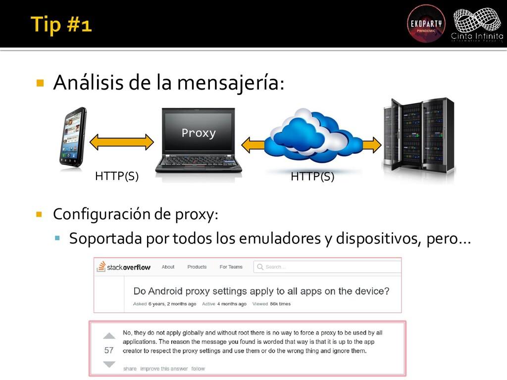  Análisis de la mensajería:  Configuración de...