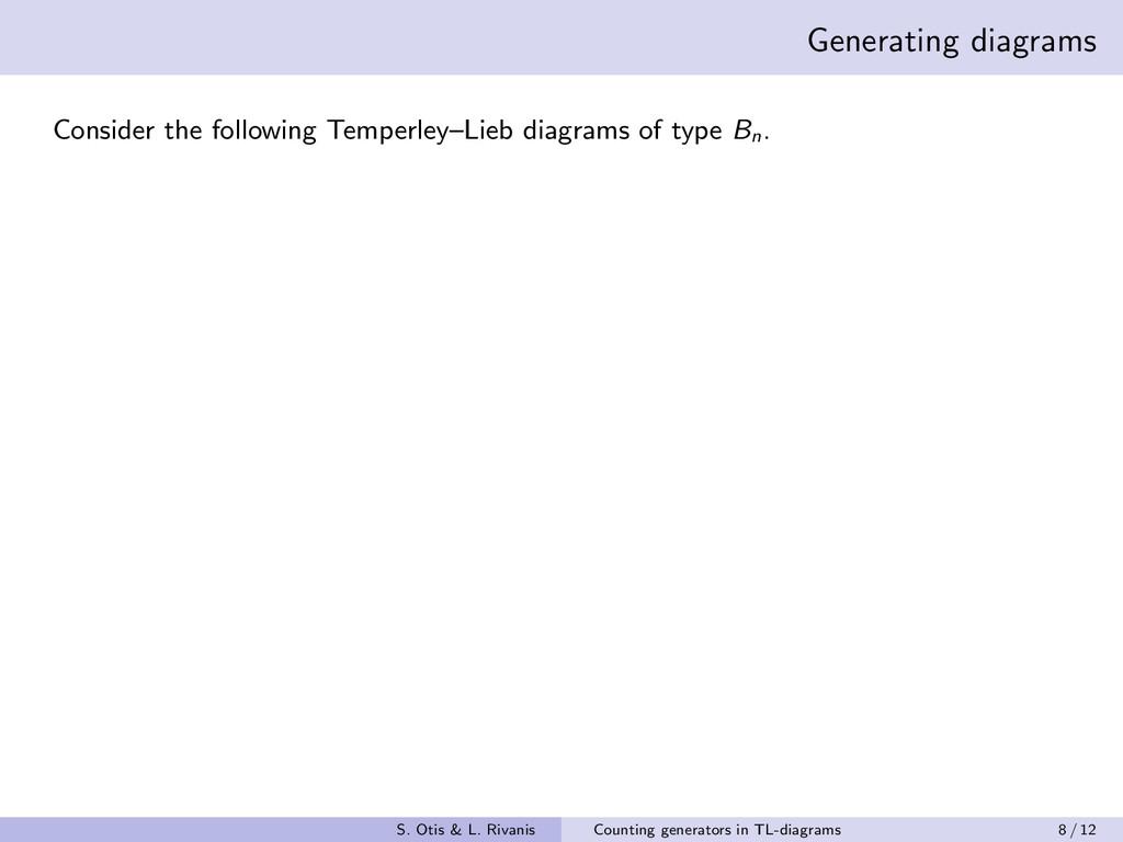 Generating diagrams Consider the following Temp...