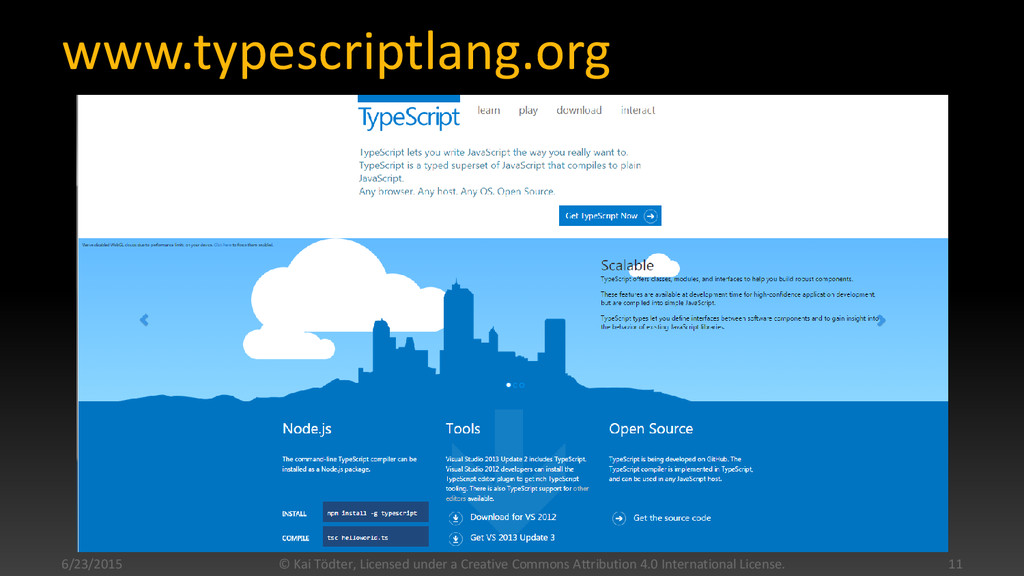www.typescriptlang.org 6/23/2015 © Kai Tödter, ...