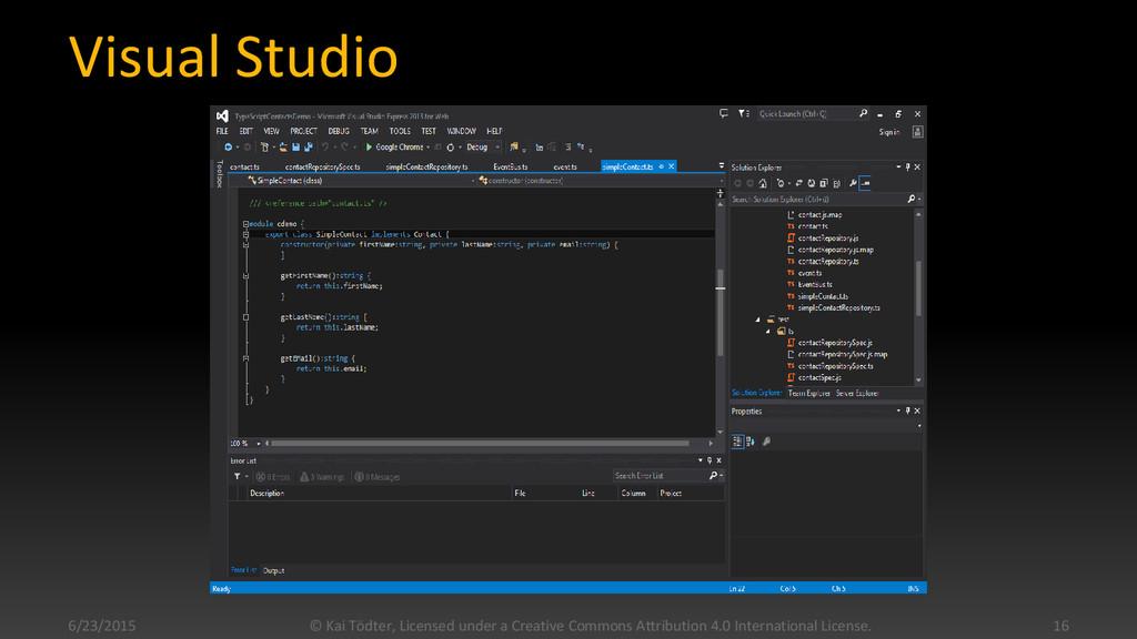 Visual Studio 6/23/2015 © Kai Tödter, Licensed ...