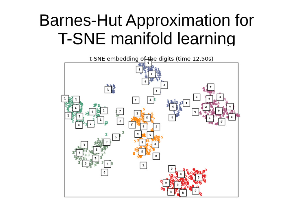 Barnes-Hut Approximation for T-SNE manifold lea...