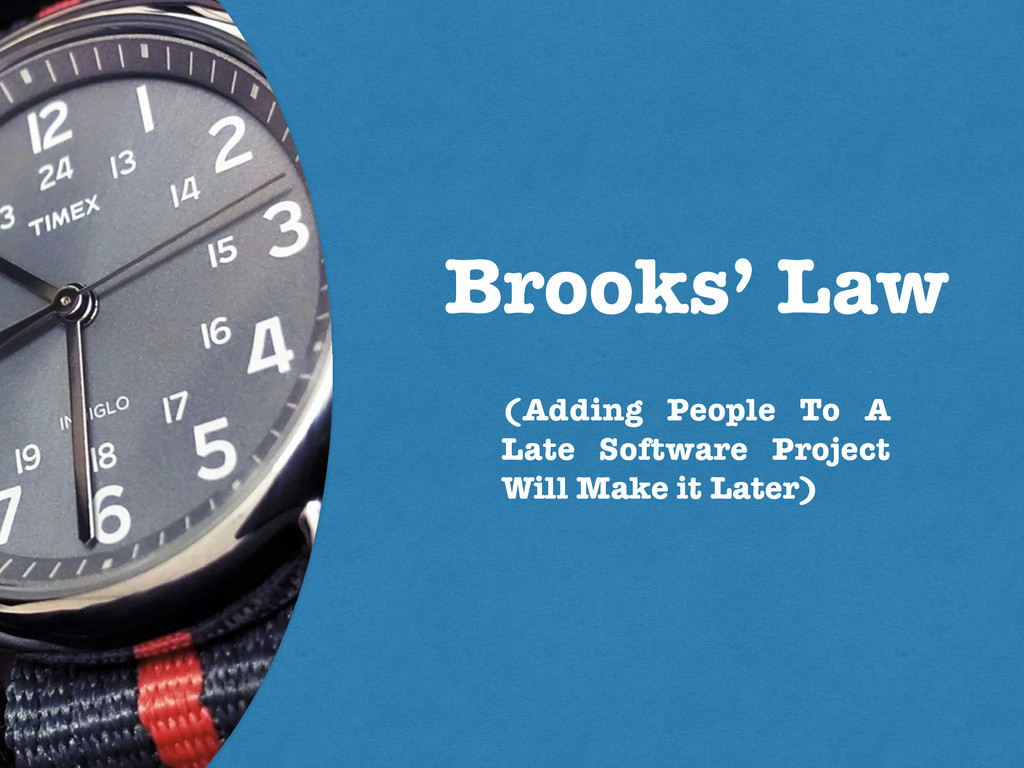Brooks' Law (Adding People To A Late Software P...