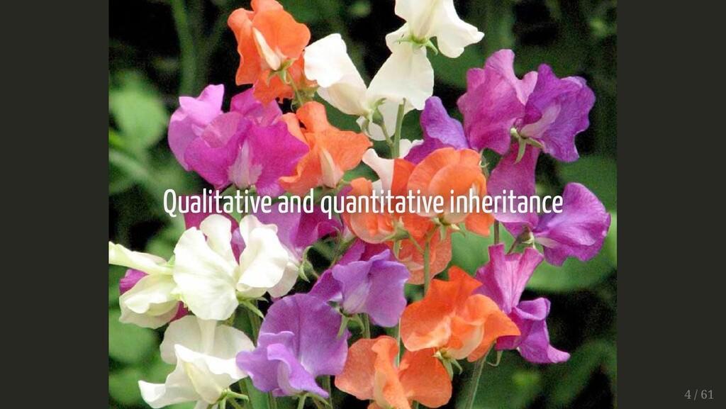 Qualitative and quantitative inheritance Qualit...