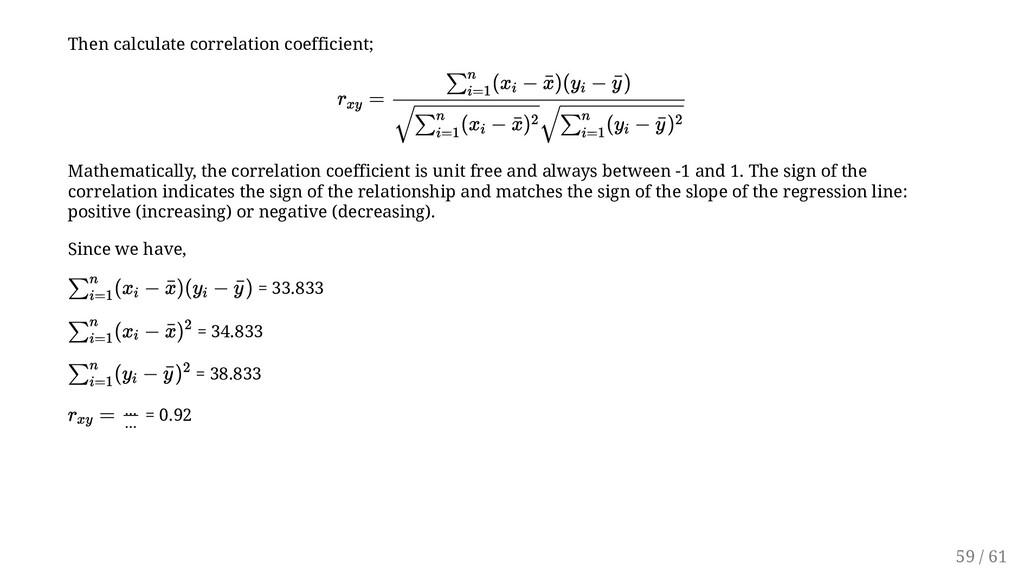 Then calculate correlation coefficient; Mathema...
