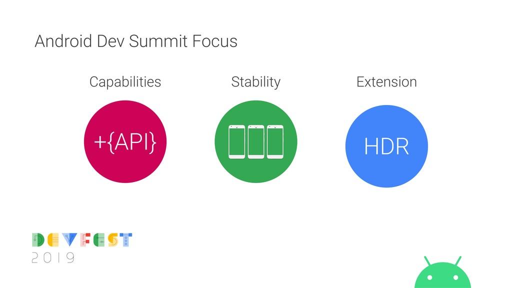 Android Dev Summit Focus +{API} HDR Capabilitie...