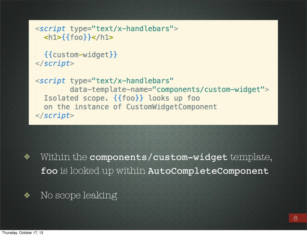 ❖ Within the components/custom-widget template,...