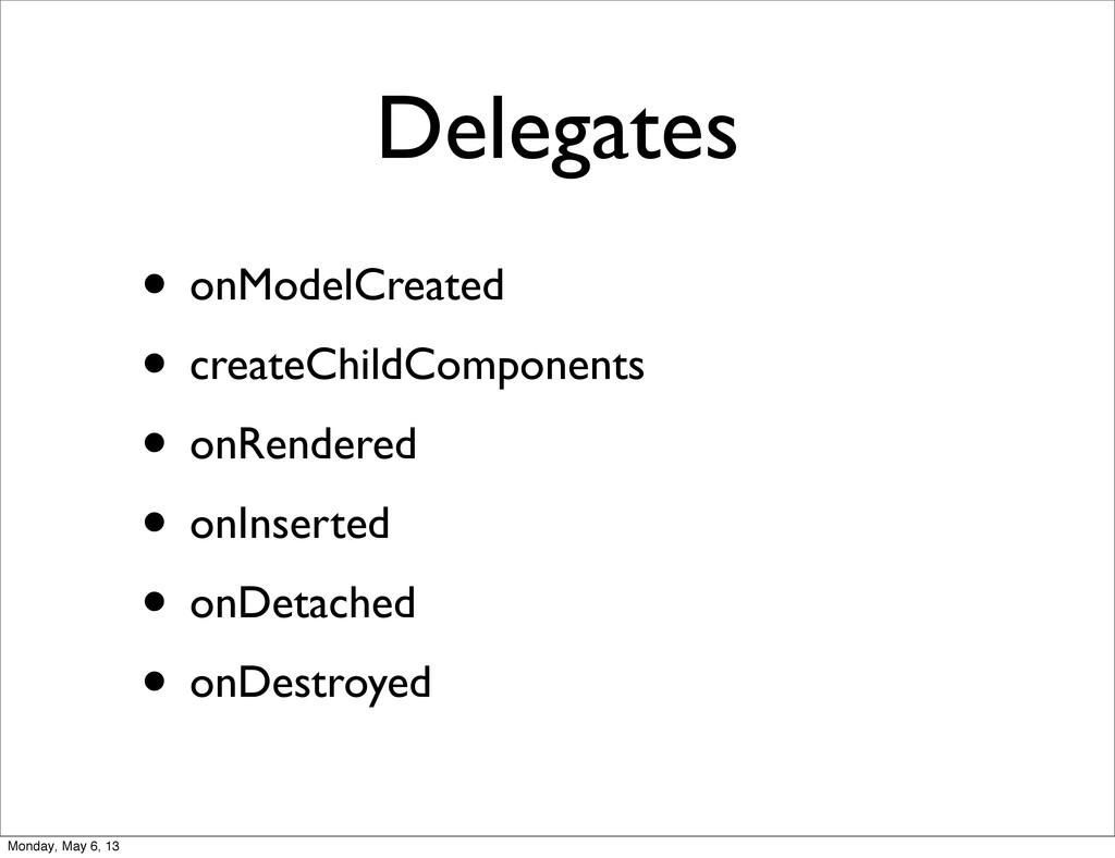Delegates • onModelCreated • createChildCompone...