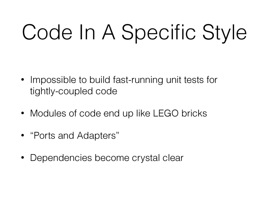 Code In A Specific Style • Impossible to build f...