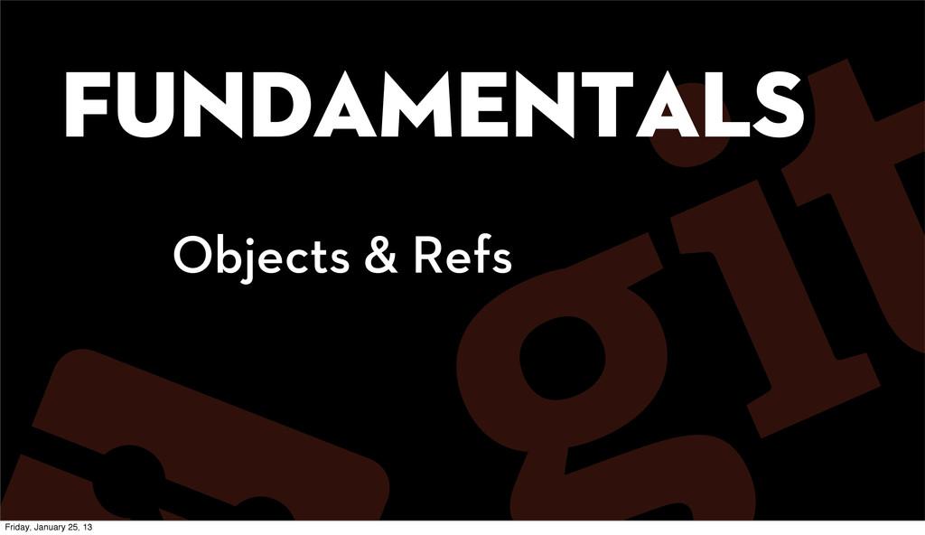 Fundamentals Objects & Refs Friday, January 25,...