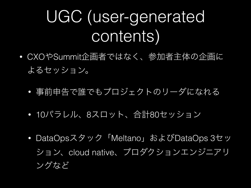 UGC (user-generated contents) • CXOSummitاըऀͰ...