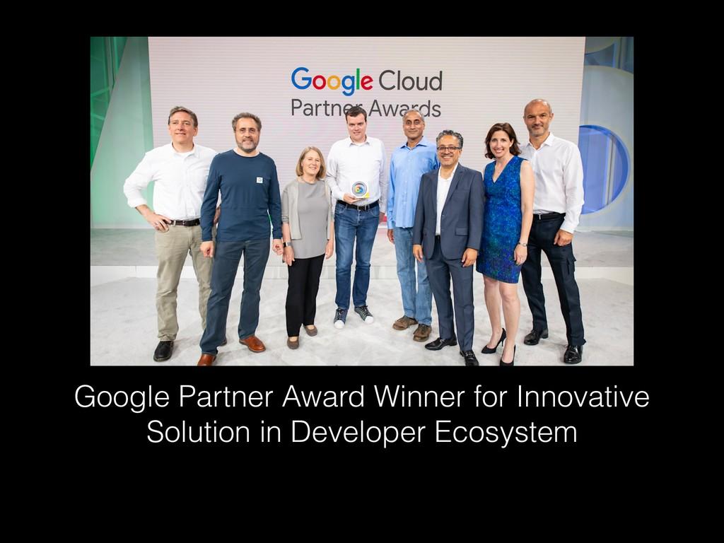 Google Partner Award Winner for Innovative Solu...