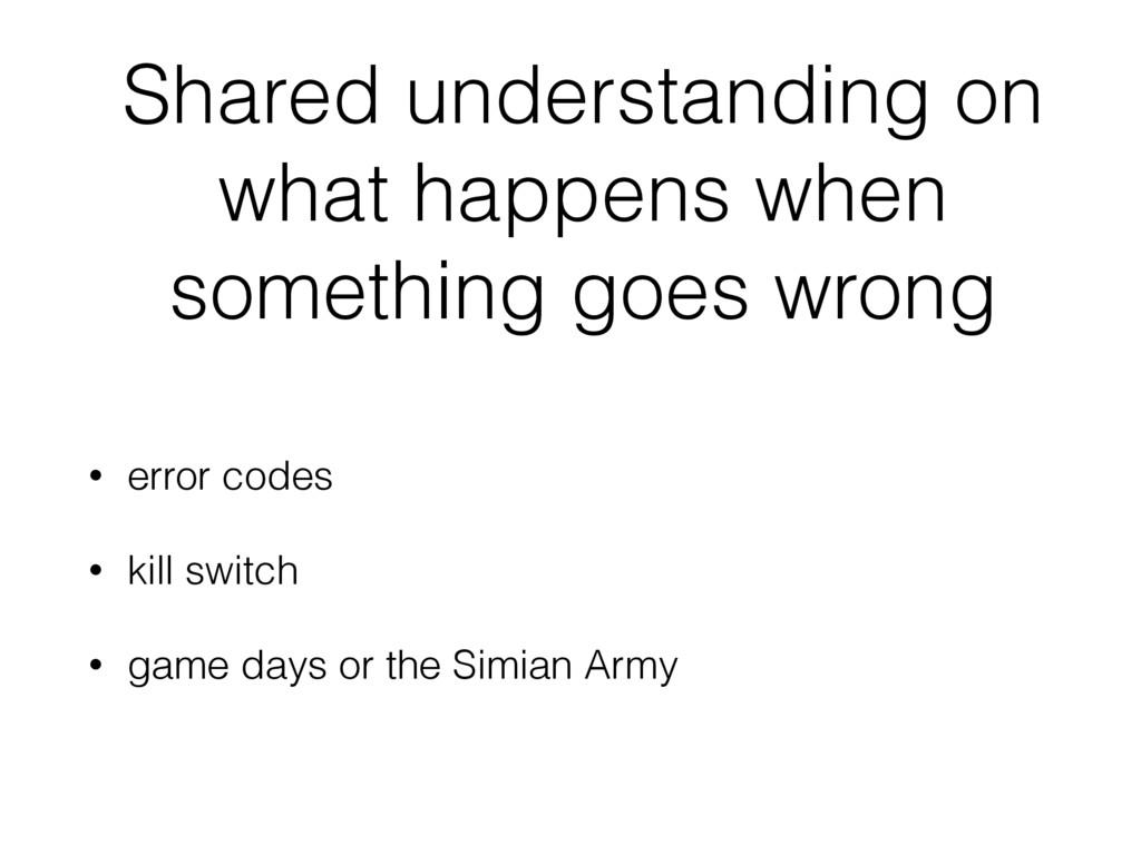 Shared understanding on what happens when somet...