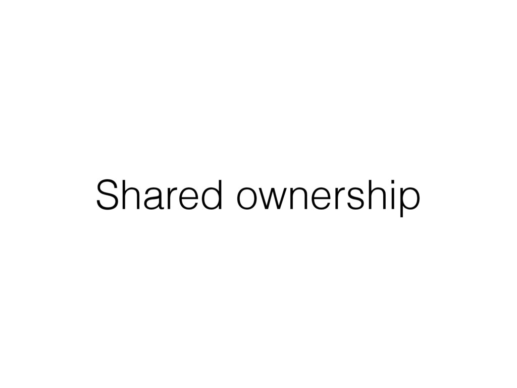 Shared ownership