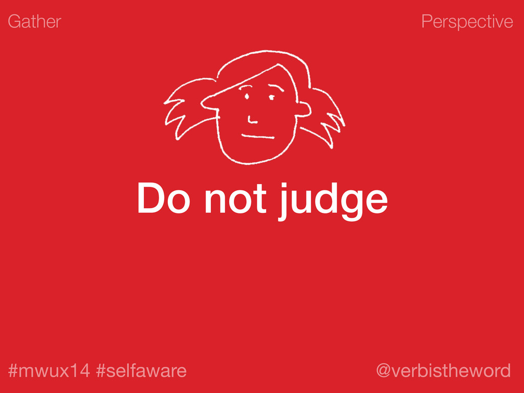 Perspective #mwux14 #selfaware @verbistheword D...