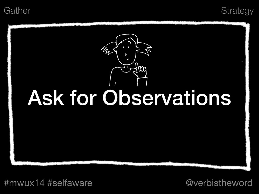 Strategy #mwux14 #selfaware @verbistheword Ask ...