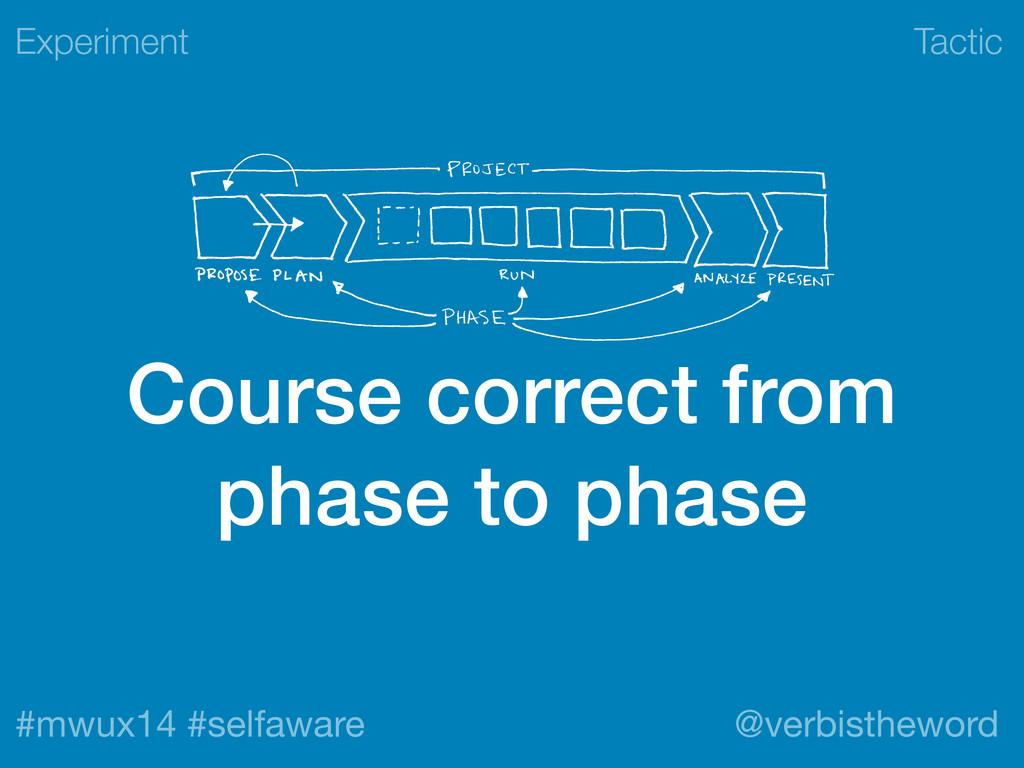 Tactic #mwux14 #selfaware @verbistheword Course...