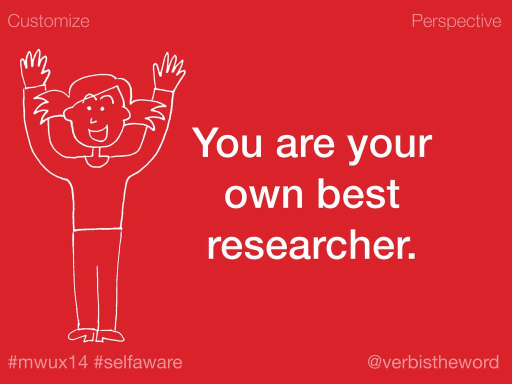 Perspective #mwux14 #selfaware @verbistheword Y...