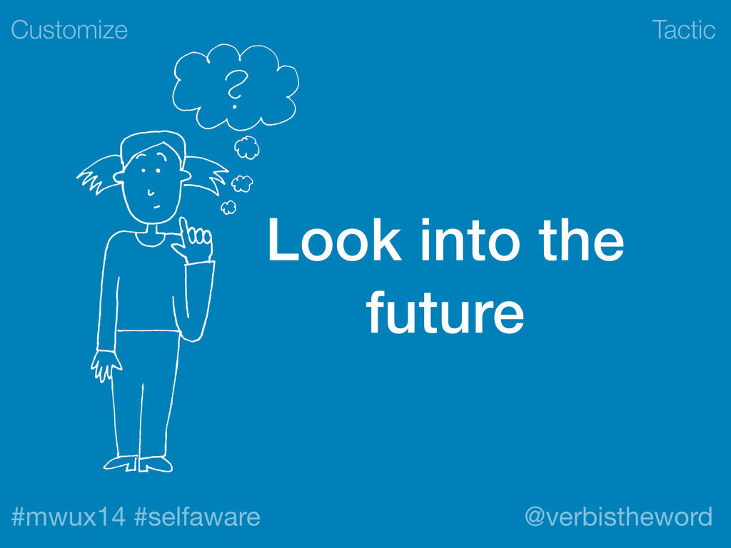 Tactic #mwux14 #selfaware @verbistheword Look i...