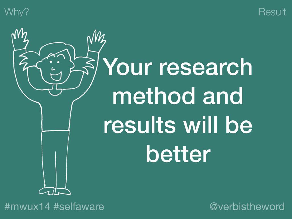 Result #mwux14 #selfaware @verbistheword Why? Y...